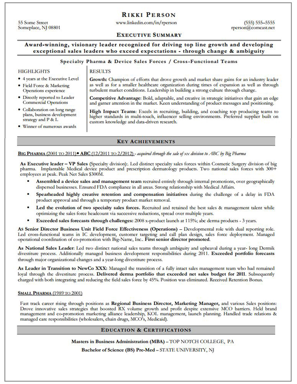 executive summary resume executive summary 0955